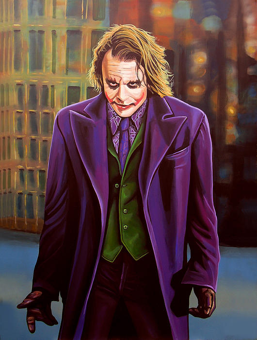 Heath Ledger As The Joker Print by Paul  Meijering