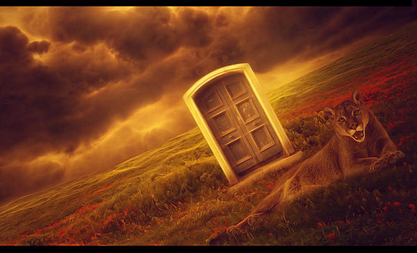 Heavens Door Print by Damir Martic