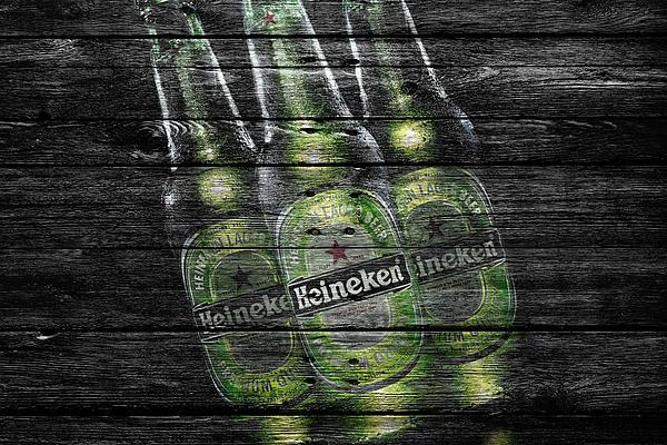Heineken Bottles Print by Joe Hamilton