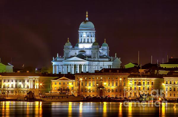 Helsinki Cathedral Print by Iltakuva