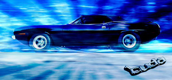Hemi Cuda Print by Phil 'motography' Clark