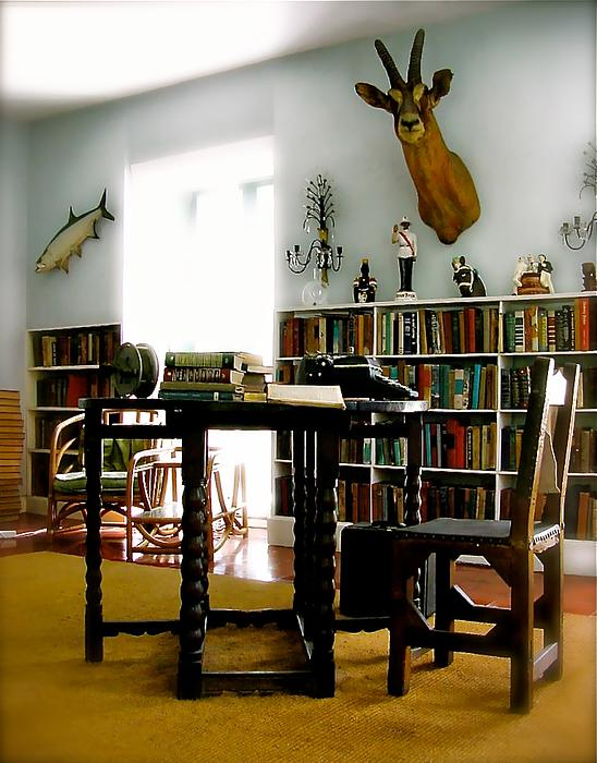 Hemingway's Studio II  Ernest Hemingway Print by Iconic Images Art Gallery David Pucciarelli