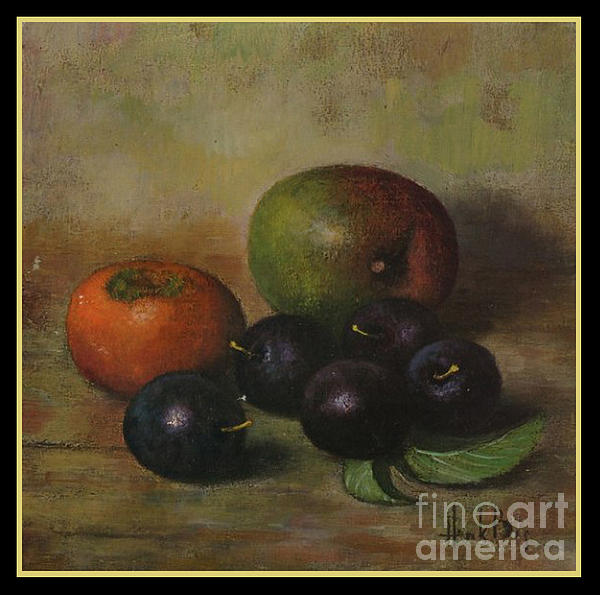 Henk Bos Fruits Still Life Plums Print by Pierpont Bay Archives
