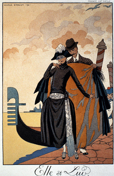 Her And Him Print by Georges Barbier