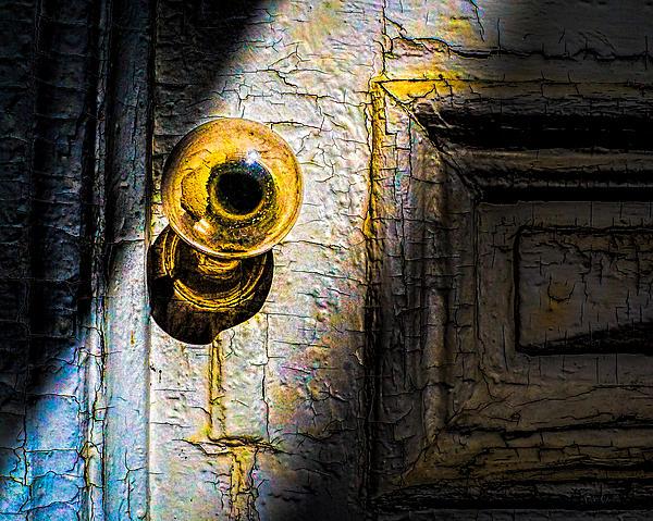 Her Glass Doorknob Print by Bob Orsillo
