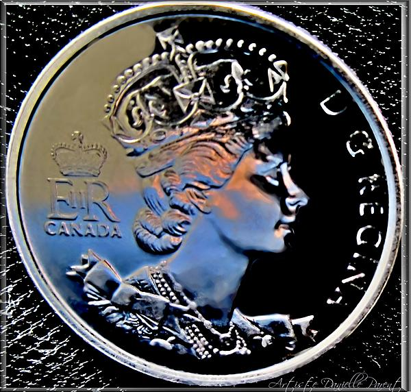 Her Majesty Elisabeth The Second  Coin Print by Danielle  Parent