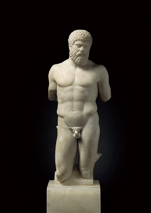 Hercules. 5th C. Bc. Roman Copy. Greek Print by Everett