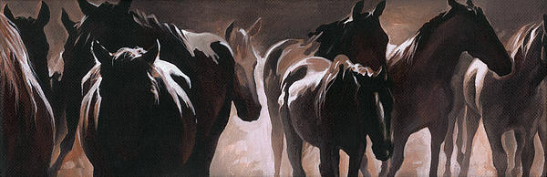 Herd Of Horses Print by Natasha Denger