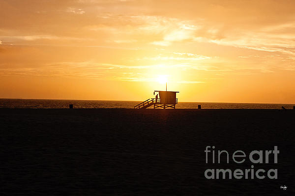 Hermosa Beach Sunset Print by Scott Pellegrin