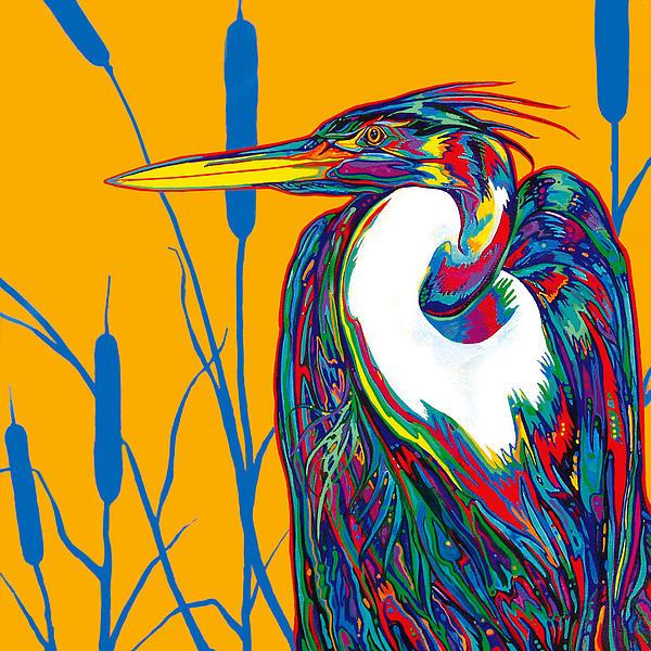 Heron Print by Derrick Higgins