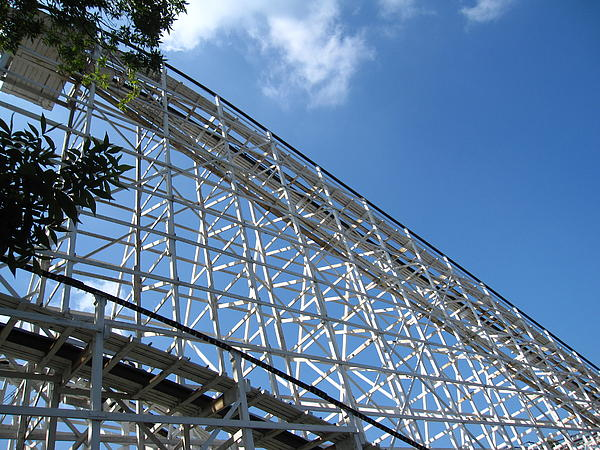 Hershey Park - Comet Roller Coaster - 12121 Print by DC Photographer