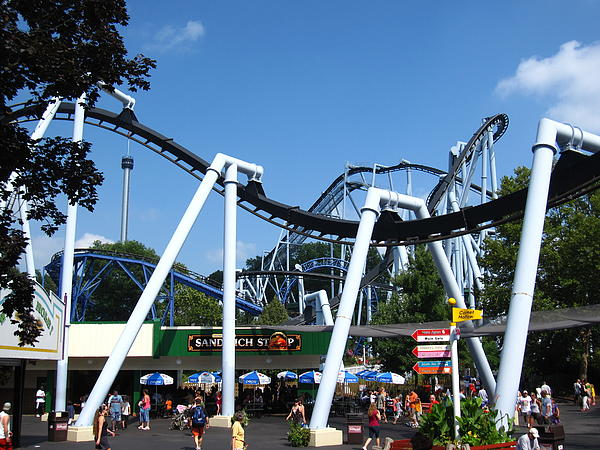Hershey Park - Great Bear Roller Coaster - 121210 Print by DC Photographer