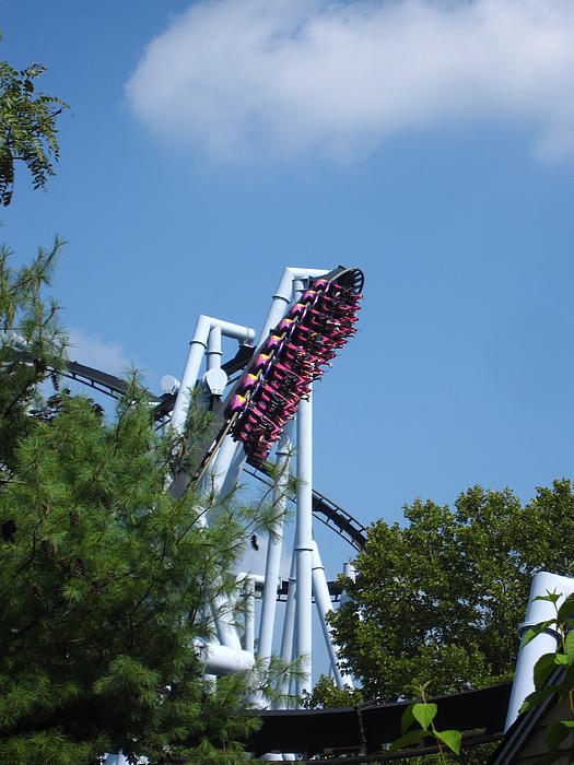 Hershey Park - Great Bear Roller Coaster - 121212 Print by DC Photographer