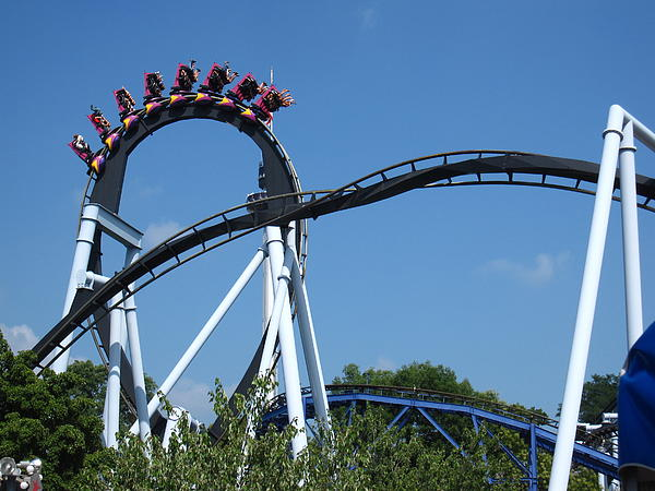 Hershey Park - Great Bear Roller Coaster - 121213 Print by DC Photographer