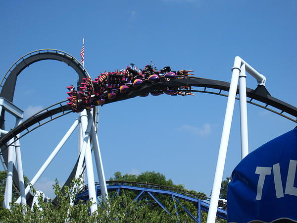 Hershey Park - Great Bear Roller Coaster - 121215 Print by DC Photographer
