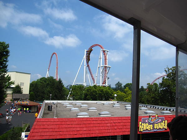 Hershey Park - Great Bear Roller Coaster - 12122 Print by DC Photographer