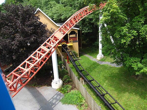Hershey Park - Storm Runner Roller Coaster - 12121 Print by DC Photographer
