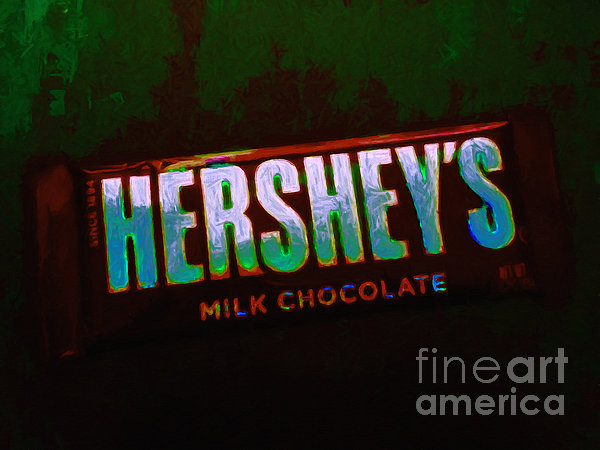 Hershey's Chocolate Bar Print by Wingsdomain Art and Photography