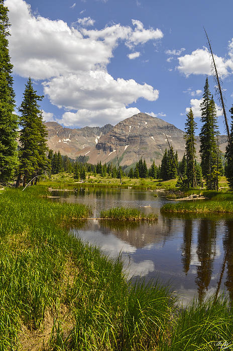 Hesperus Mountain Reflection Print by Aaron Spong