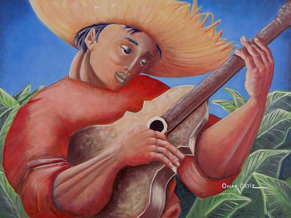 Hidalgo Campesino Print by Oscar Ortiz