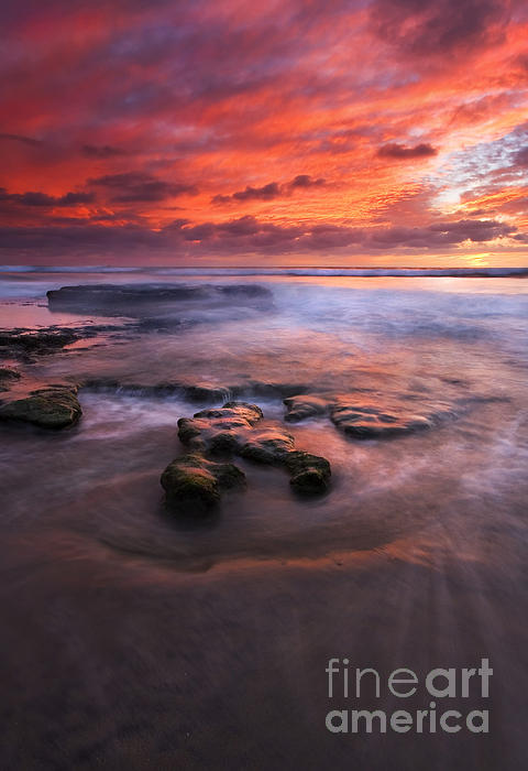 Hidden By The Tides Print by Mike  Dawson