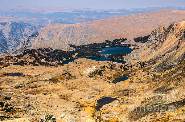 High Altitude Lakes Print by Sue Smith