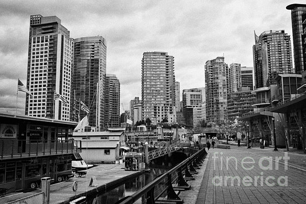 high rise apartment condo blocks in the west end coal harbour marina Vancouver BC Canada Print by Joe Fox
