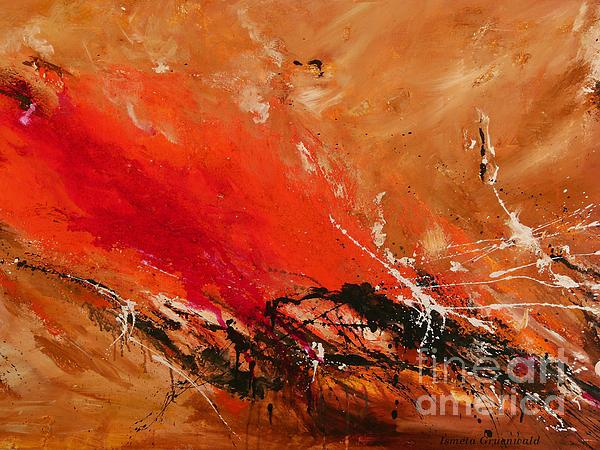High Time - Abstract Art Print by Ismeta Gruenwald