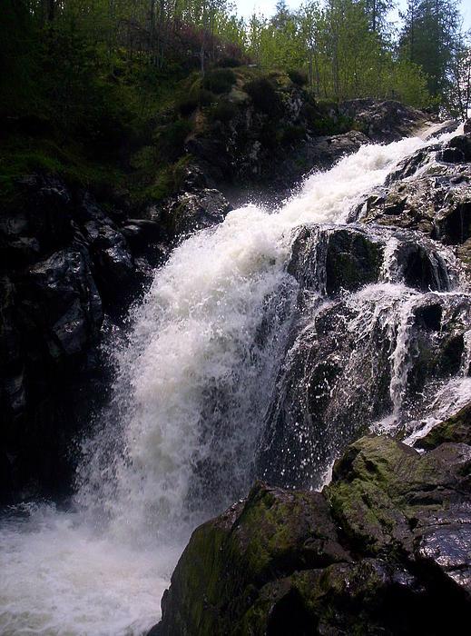 Highland Waterfall Print by R McLellan