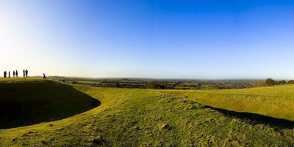 Hill Of Tara - Landscape Panorama Print by Mark Tisdale