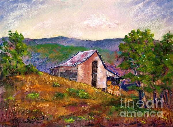 Hillside Barn Print by Bruce Schrader