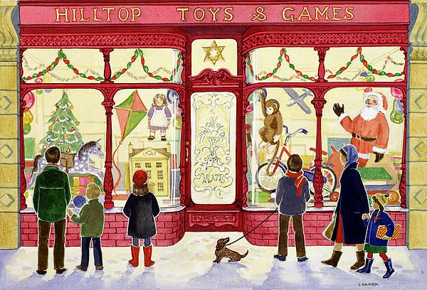 Hilltop Toys And Games Print by Lavinia Hamer