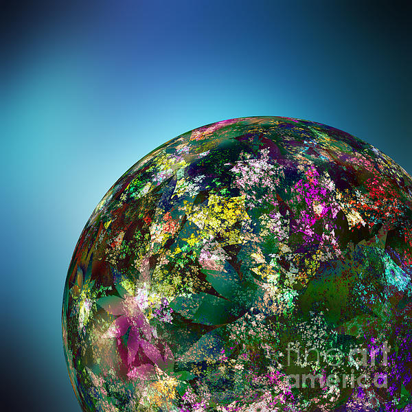 Hippies' Planet 2 Print by Klara Acel