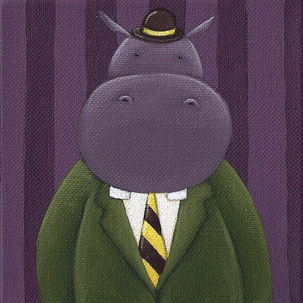 Hippo Nursery Art Print by Christy Beckwith