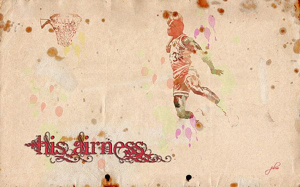 His Airness - Michael Jordan Print by Paulette B Wright