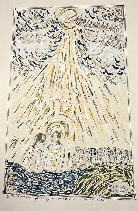 His Baptism Print by Dietmar Scherf