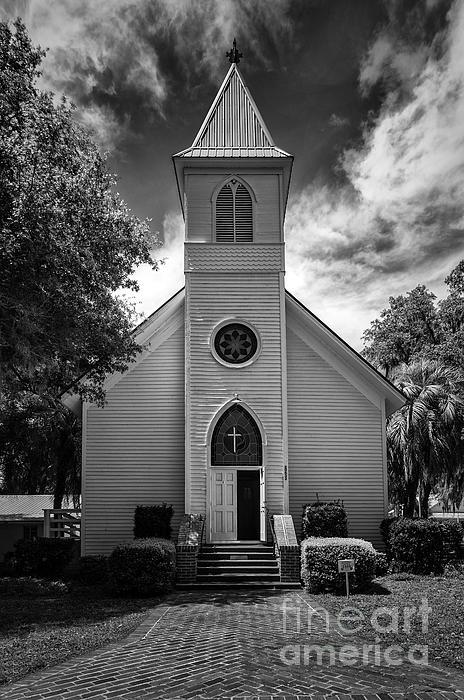 Historic Mcintosh Methodist Church Print by Lynn Palmer