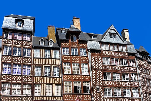 Historic Rennes Print by Jane Rix
