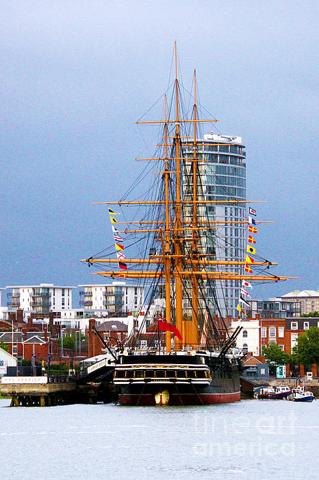 Hms Warrior Portsmouth Print by Terri  Waters