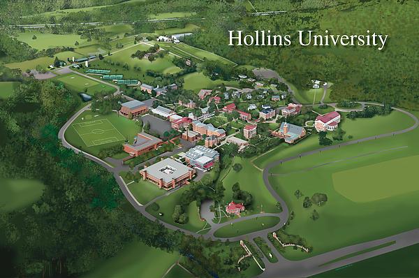 Hollins University Print by Rhett and Sherry  Erb