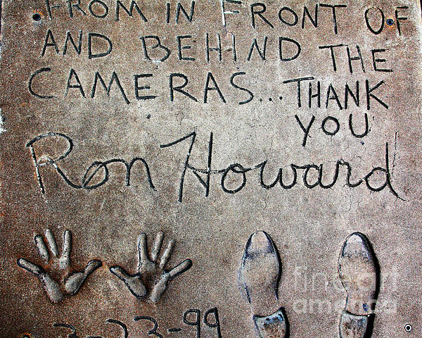 Hollywood Chinese Theatre Ron Howard 5d29035 Print by Wingsdomain Art and Photography