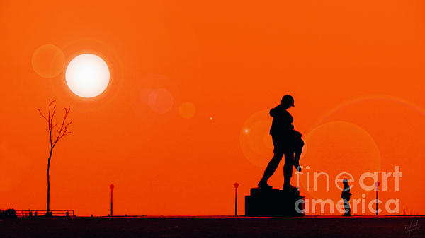 Holocaust Memorial - Sunset Print by Nishanth Gopinathan
