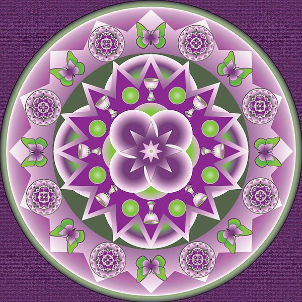 Holy Week Mandala Print by Linda Pope