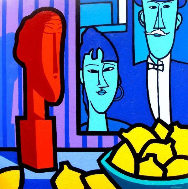 Homage To Modigliani Print by John  Nolan