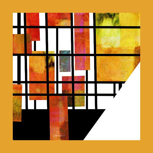 Homage To Mondrian Three Print by Ann Powell