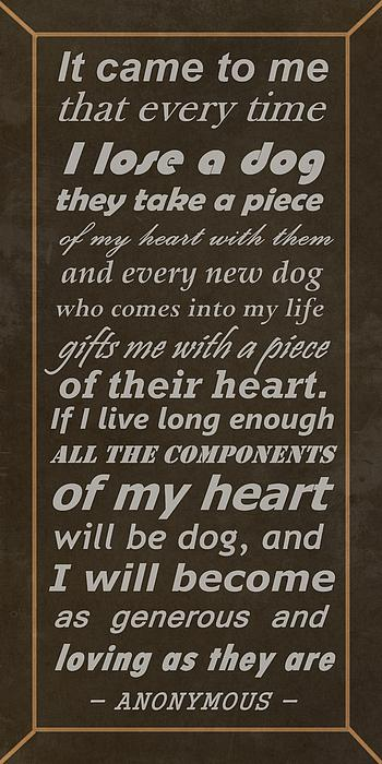 Homage To The Dogs In Our Lives Print by Movie Poster Prints