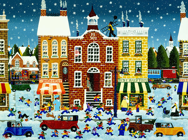 Home For The Holidays Print by Merry  Kohn Buvia