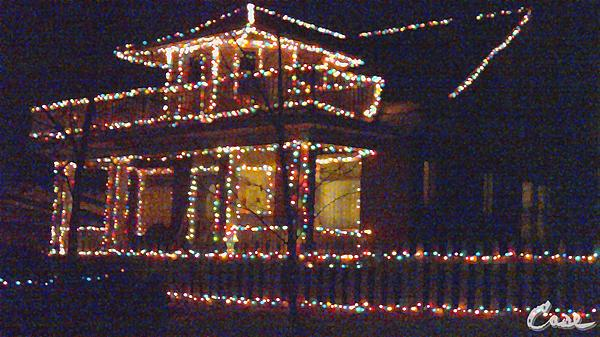 Home Holiday Lights 2011 Print by Feile Case
