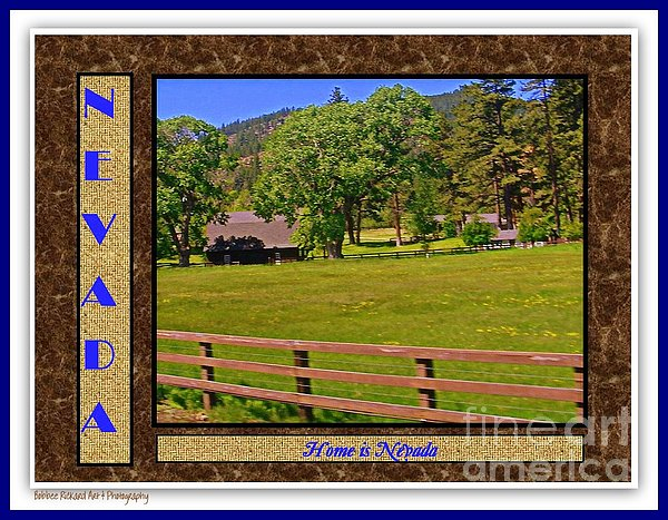 Home Is Nevada Print by Bobbee Rickard