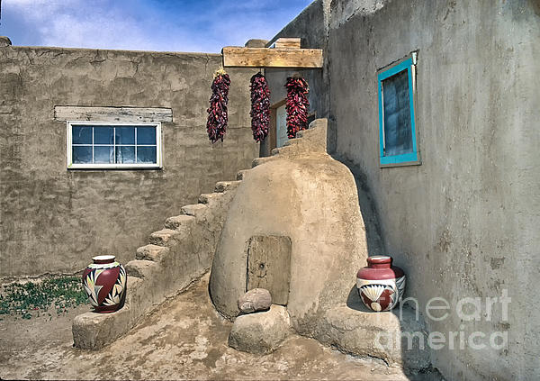 Home On Taos Pueblo Print by Sandra Bronstein